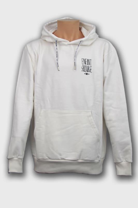 hoodie-premium-classic-blanc-enfant-sauvage-paris boutique streetwear