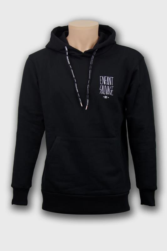 hoodie-premium-classic-noir-lacage-avant-fermeture boutique streetwear