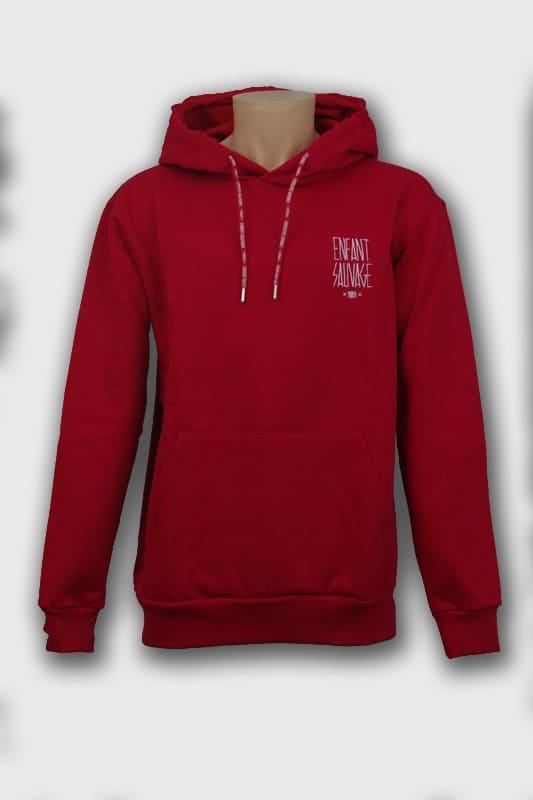 hoodie-premium-classic-rouge-enfant-sauvage-paris boutique streetwear