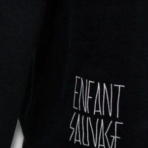 sweat-roundneck-wolf-noir-enfant-sauvage-paris boutique streetwear