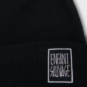 beanie-authentique-merino-enfant-sauvage-logo-face-avant