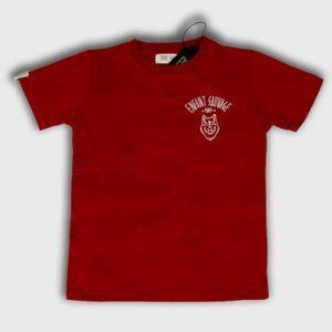 enfant-sauvage-tee-shirt-wolf-child-style-rouge boutique streetwear pret a porter vetements de sport