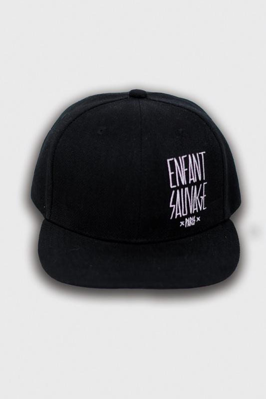 casquettes snapback black noir logo l marque brodé boutique streetwear vêtements de sport tendance de la rue