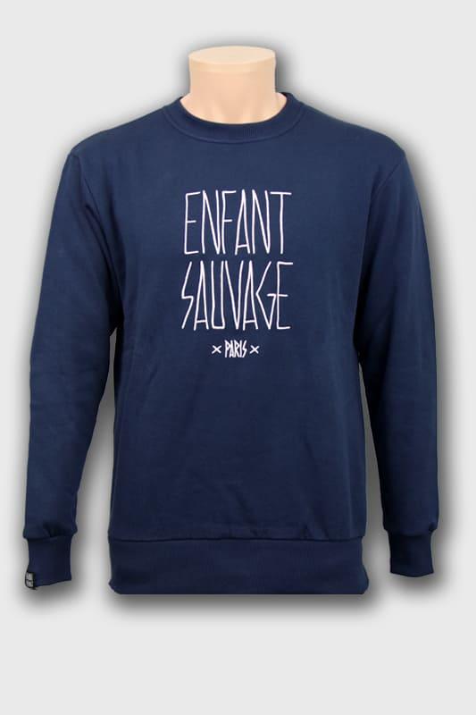 sweat-roundneck-authentique-marine-logo-face-avant