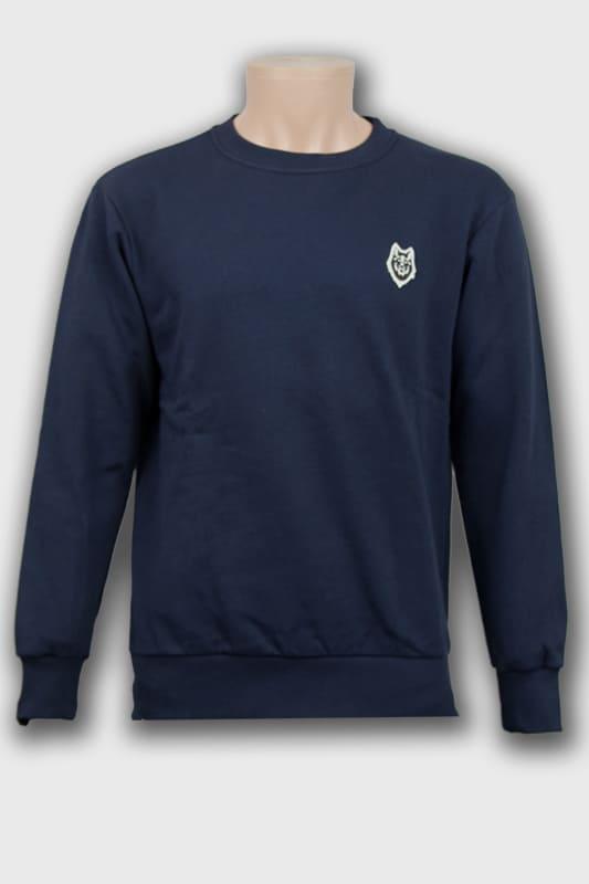 sweat-roundneck-wolf-marine-logo-loup-avant boutique streetwear