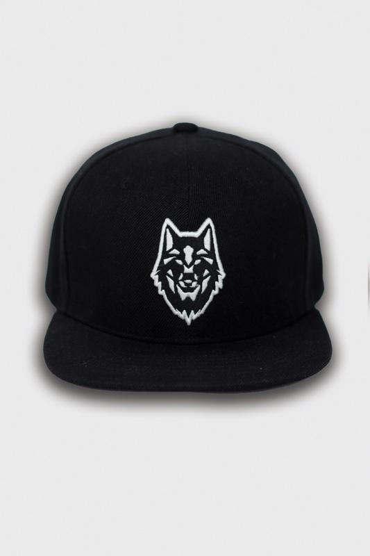 casquettes snapback black logo loup boutique streetwear vêtements de sport au message fort et unique