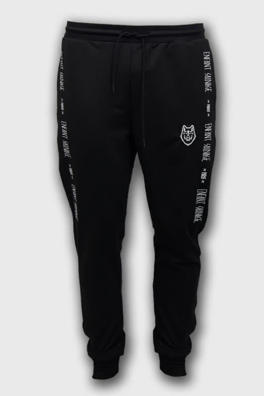 enfant-sauvage-bas-training-noir-marque-laterale boutique streetwear vetements de sport