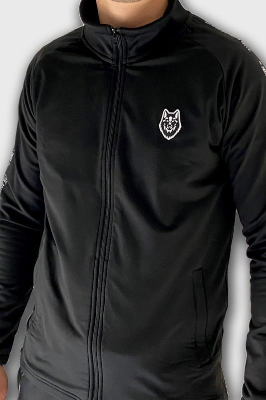 training-haut-enfant-sauvage-vetements-sport-face-logo-loup-noir