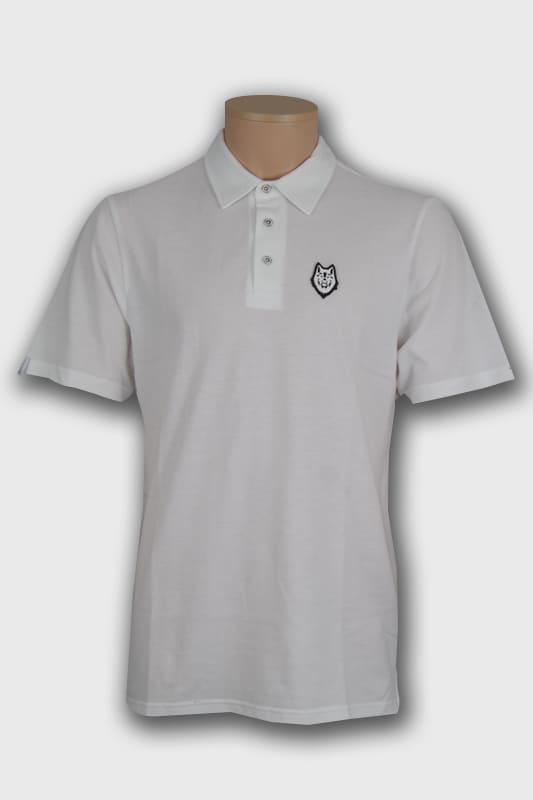 polo wolf blanc logo boutique en ligne streetwear pret a porter