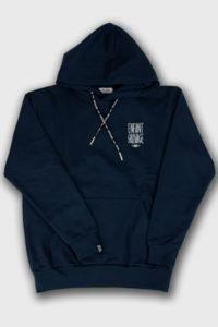 sweat hoodie premium classic marine lacets de fermeture capuche