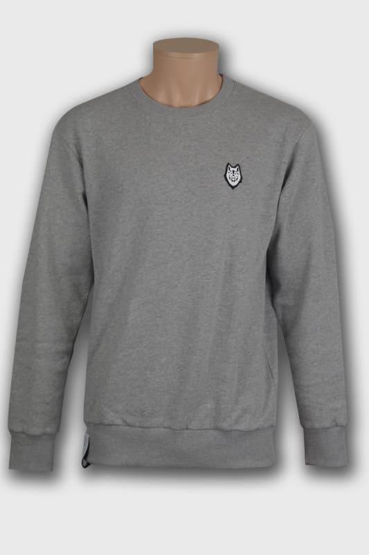 sweat wolf roundneck max gris manches longues boutique en ligne streetwear
