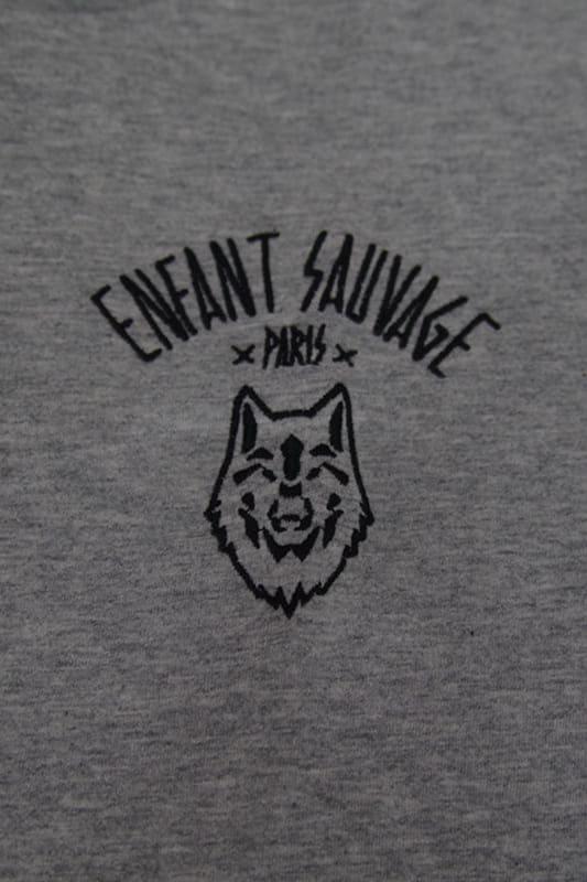 t shirt wolf child style gris marque qualite wolf boutique steetwear influences de la rue
