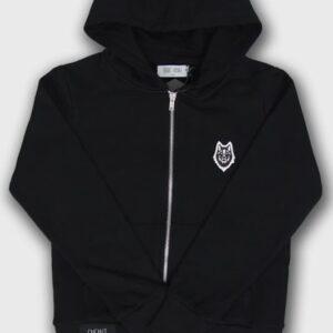 veste hoodie child wolf noir logo loup boutique steetwear influences urbain