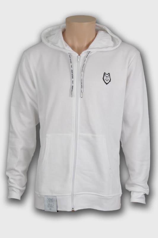 veste hoodie wolf blanc manches longues noir boutique steetwear